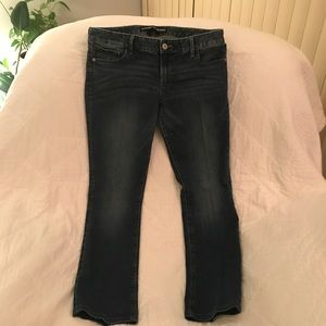 Express Low Rise Barely Boot Jeans 12